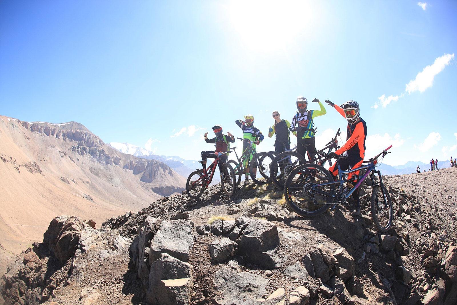 Santa Cruz Bicycles riders at the top of La Parva