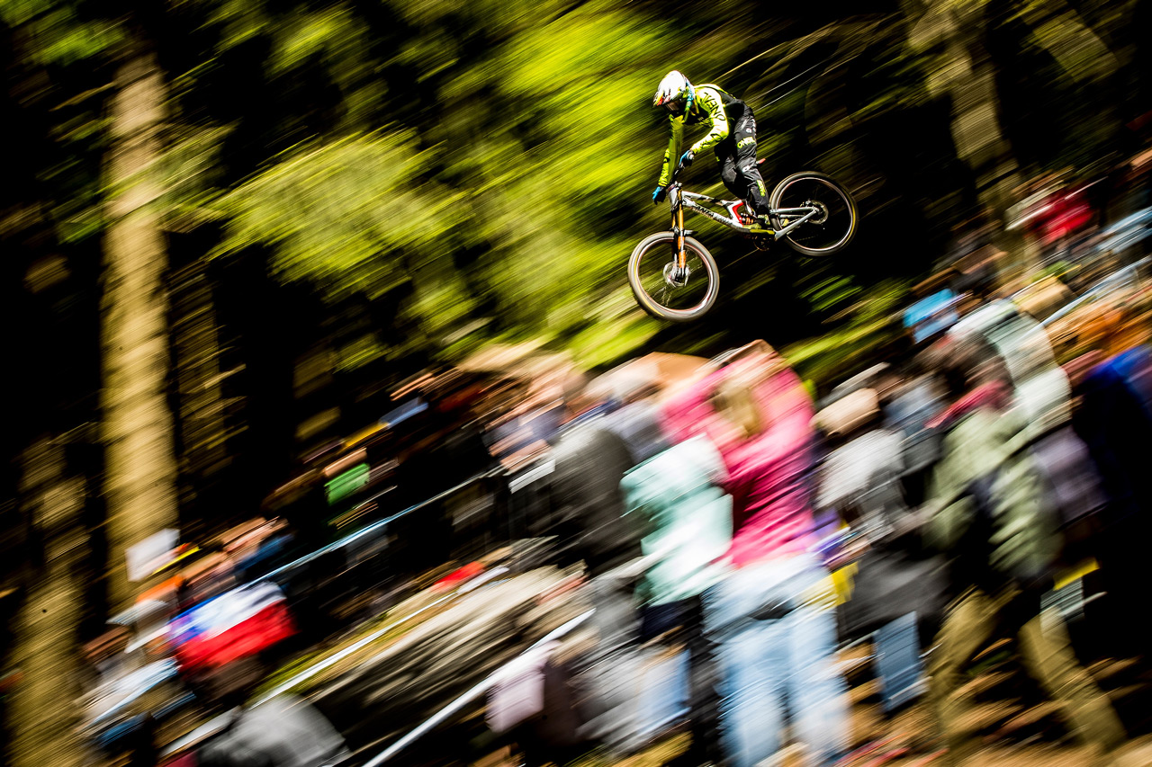 The Syndicate's Greg Minnaar at the Lourdes World Cup DH Season Opener