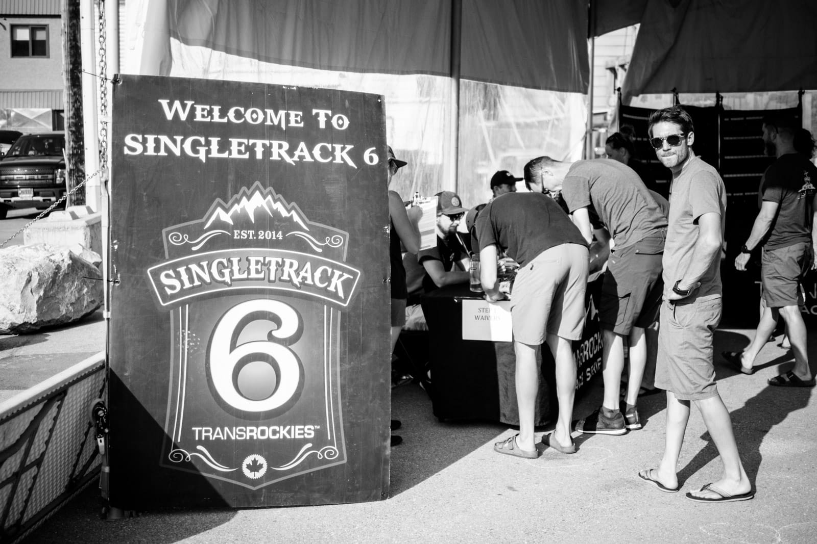 Santa Cruz Bicycles - Signing in Before Singletrack6