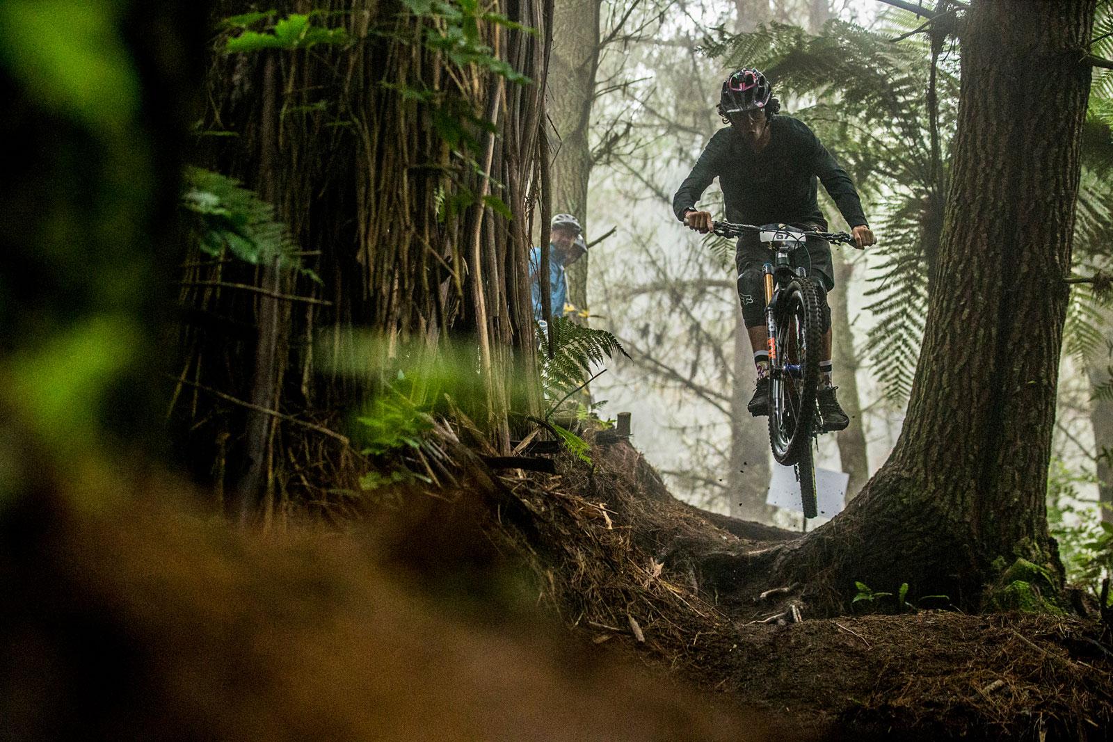 Santa Cruz Bicycles Racer Josh Bryceland at the 2017 Rotorua Enduro World Series