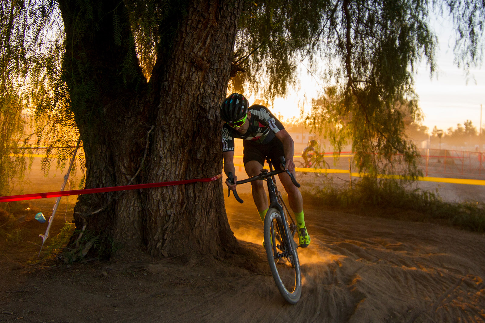 Free Agent Tobin Ortenblad Racing Against the Sun at CXLA Cyclocross Race