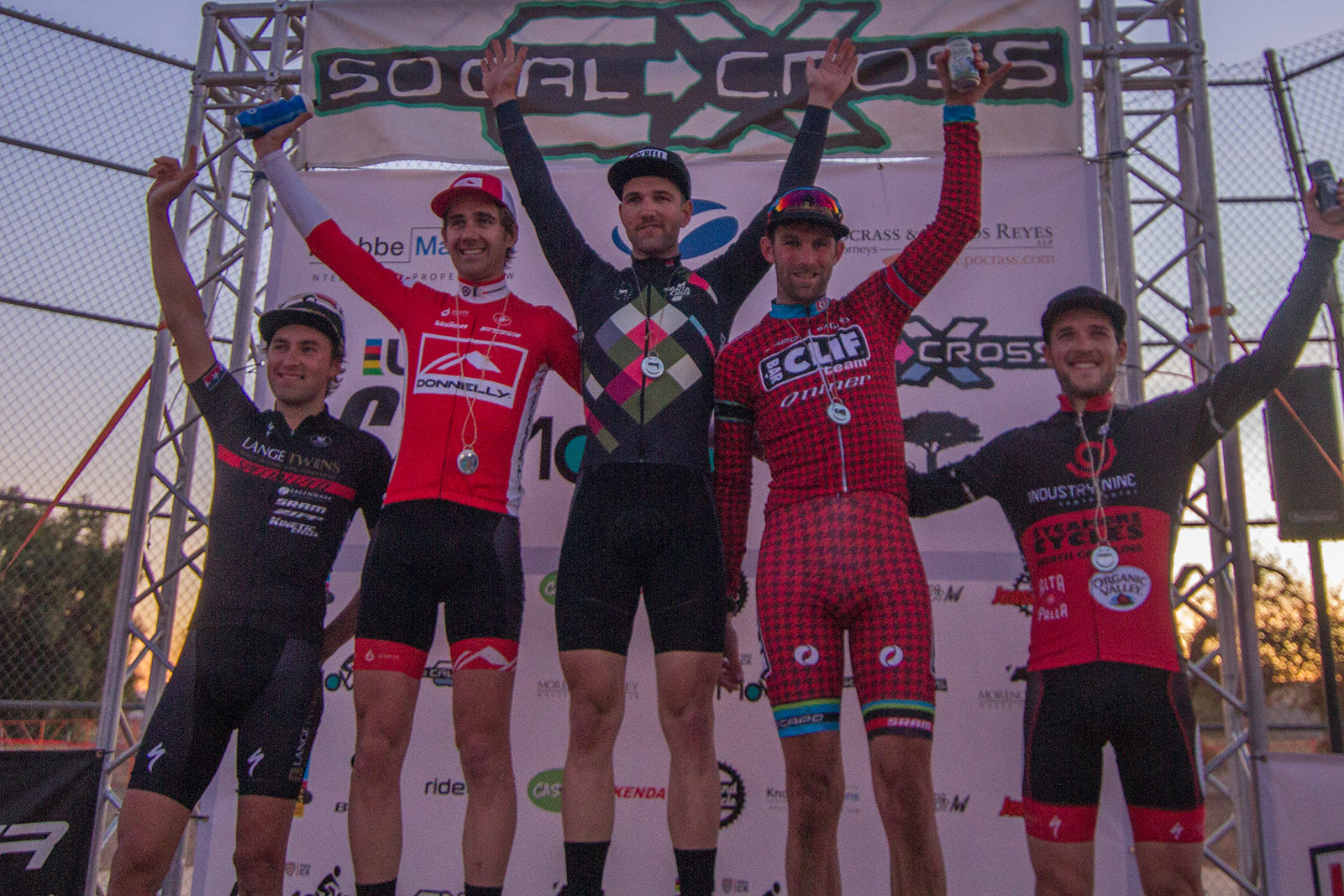 Tobin Ortenblad on the Podium on Day Two of CXLA Cyclocross