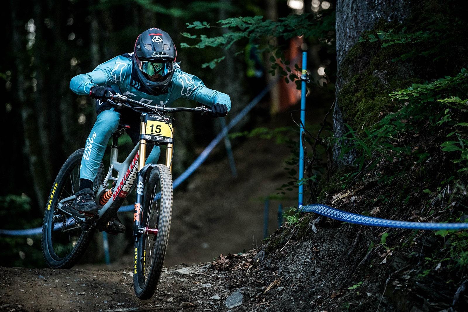 Santa Cruz Bicycles - The Santa Cruz Syndicate's Loris Vergier in Morzine for 2018 French National DH Championships