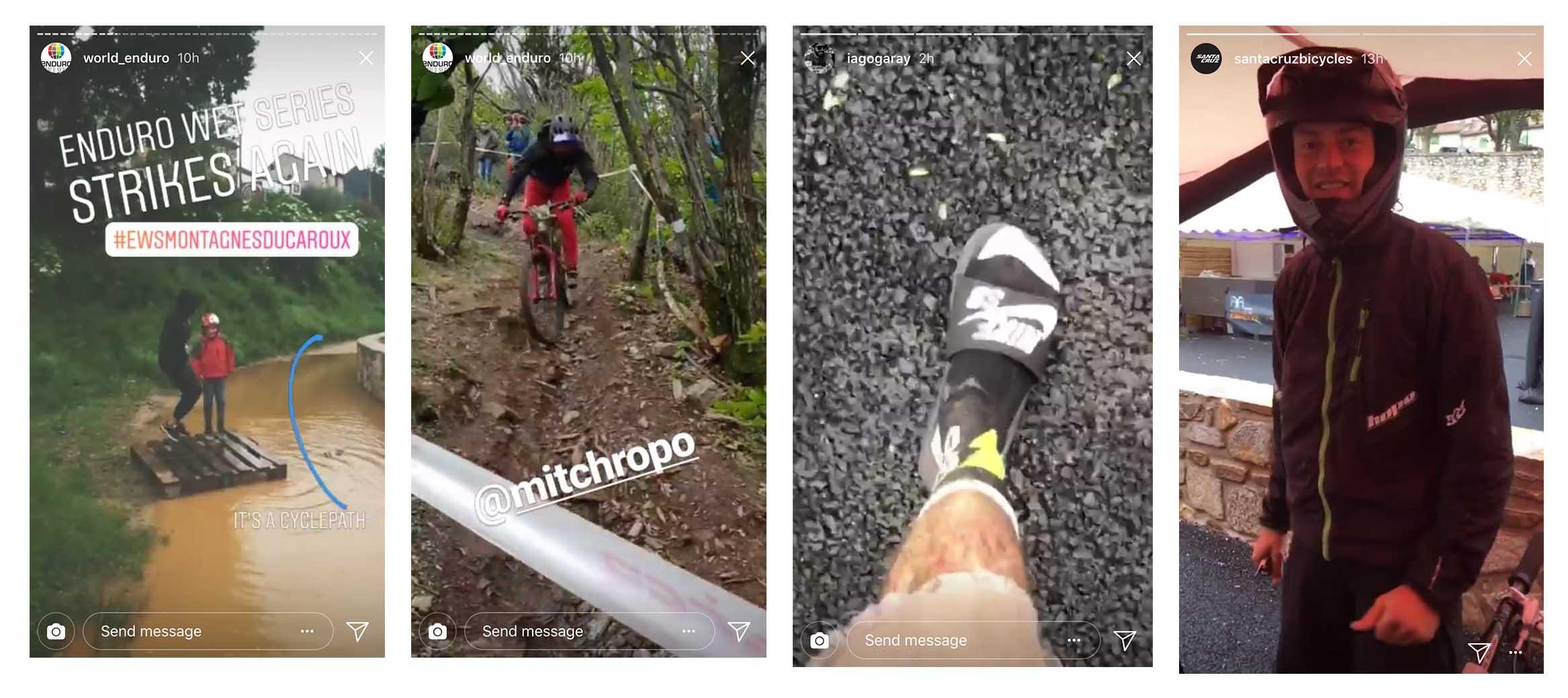 Santa Cruz Bicycles - Instagraom Stories from The Santa Cruz Enduro Team from EWS 3 in France