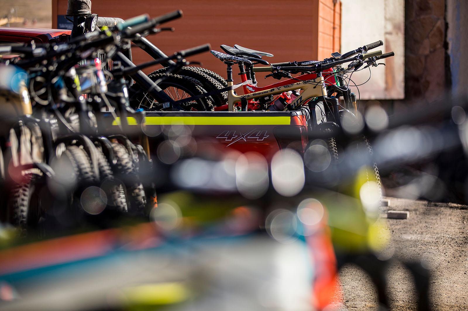 Santa Cruz Bicycles - Stacking Bikes for EWS Round One in Chile