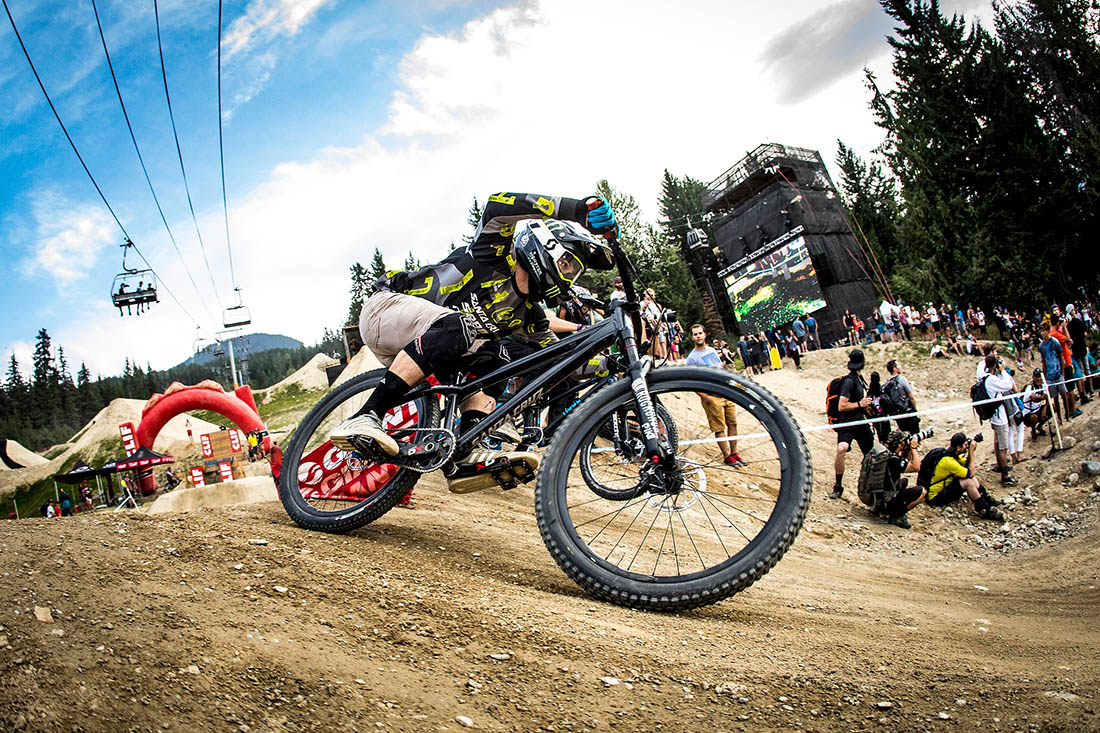 Mitch Ropelato on his way to 4th in the Speed and Style at Crankworx Whistler