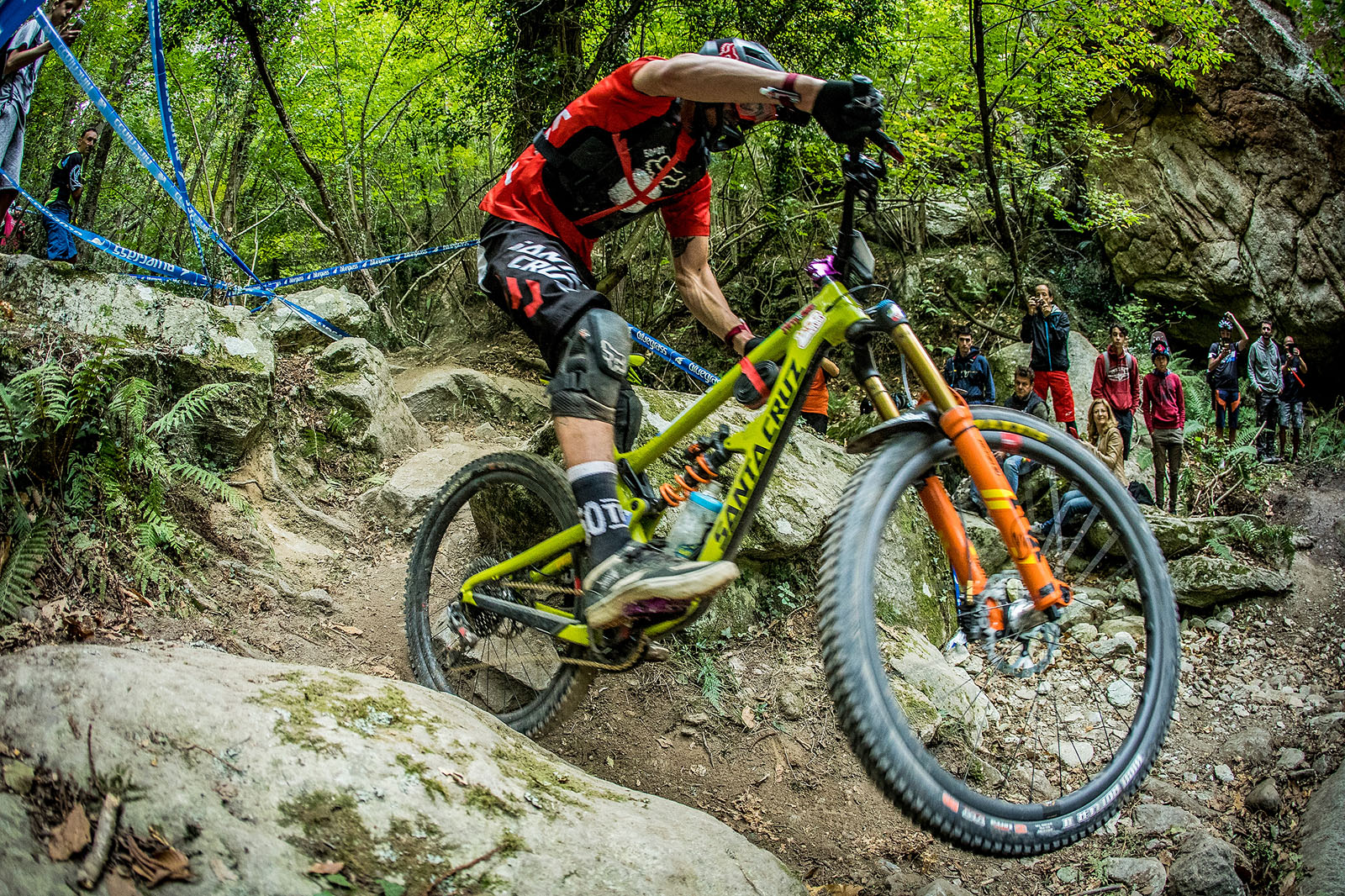 Josh Bryceland at the Enduro World Series race in Finale