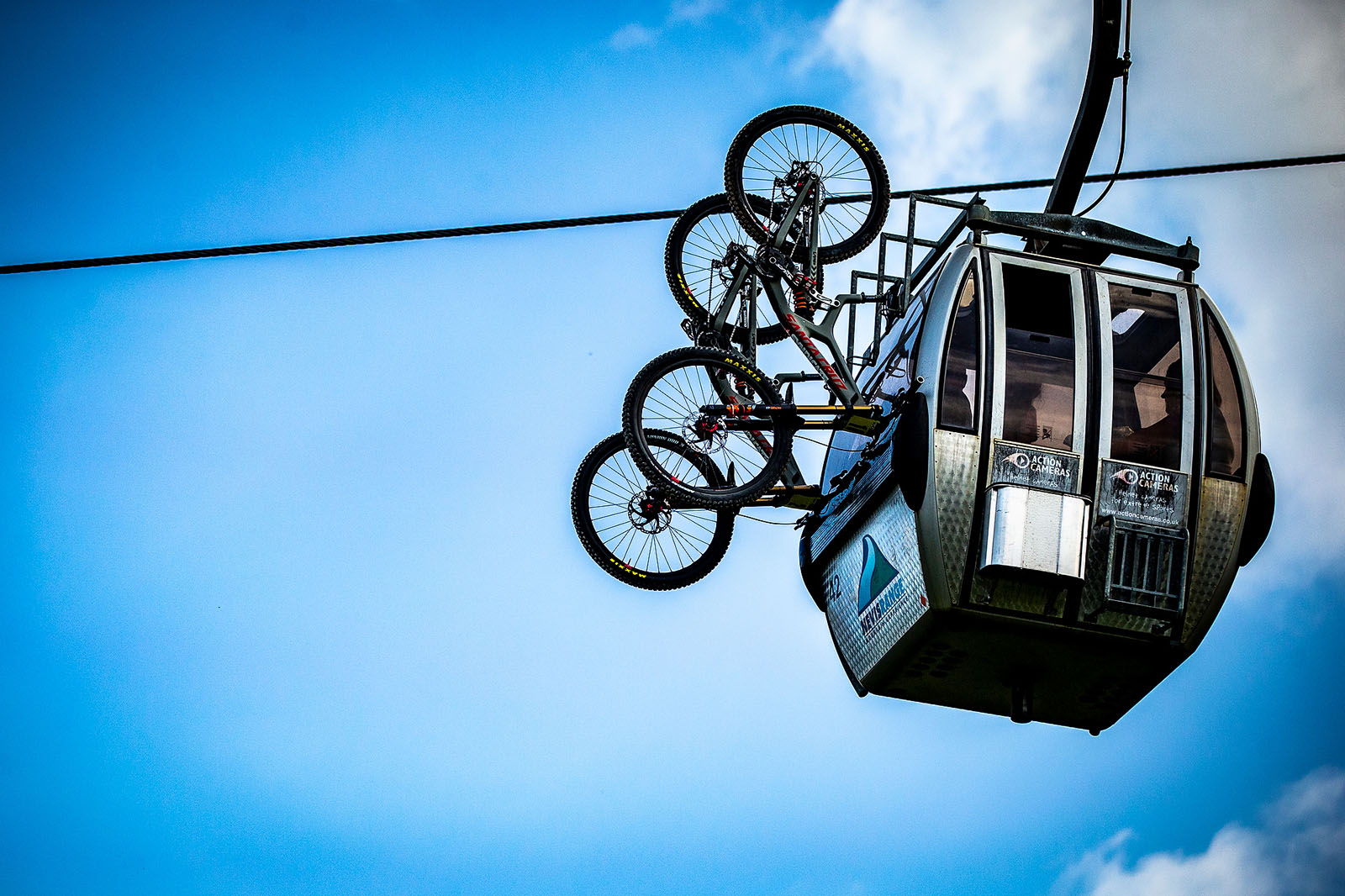 Santa Cruz Bicycles - The Syndicate Riding the Gondola at the Fort William World Cup