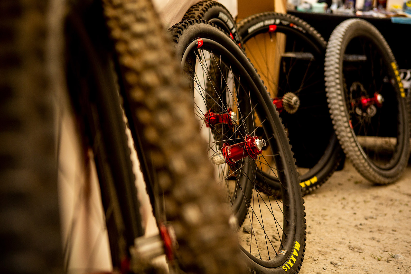Santa Cruz Bicycles - The Syndicate's Reserve Wheels and Chris King Hubs in the Pits