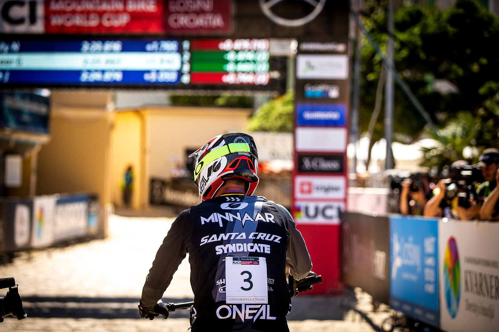 Santa Cruz Bicycles - The Syndicate's Greg Minnaar at Losinj World Cup DH Finish