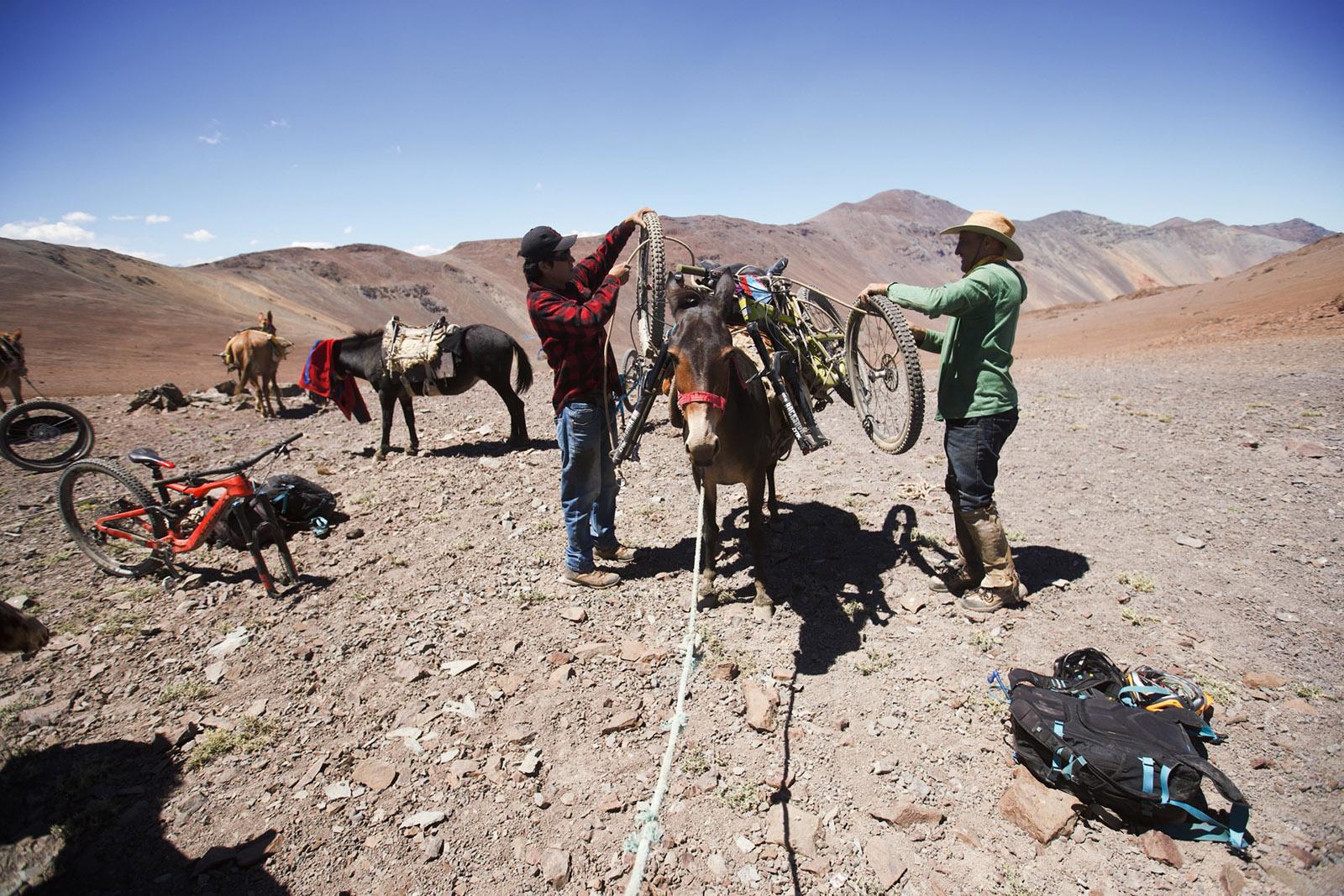 Santa Cruz Bicycles - Loading the Mules at Andes Pacifico