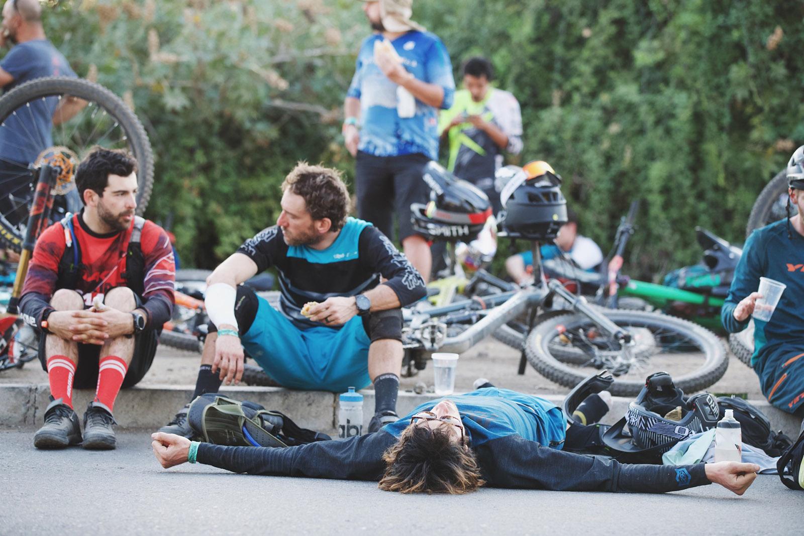 Santa Cruz Bicycles - Catching a Quick Nap at Andes Pacifico