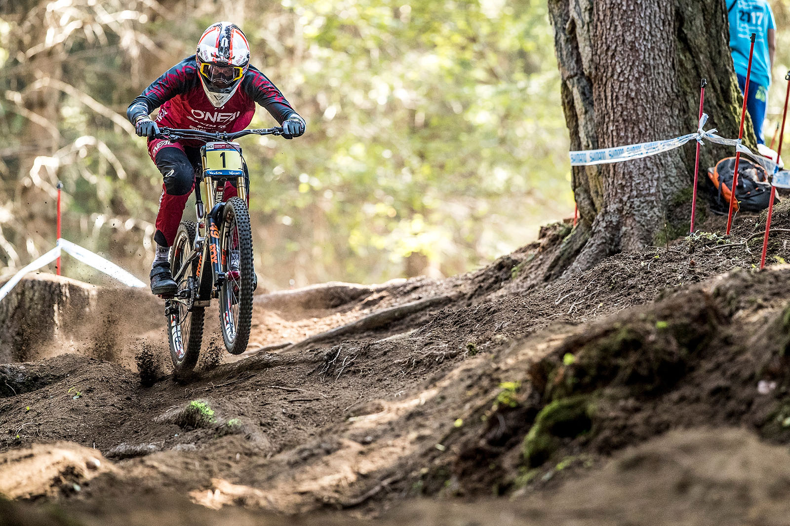 Greg Minnaar on his way to 2nd at the Val di Sole qualifiers